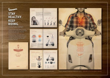 Vespa Scooter: THE HEART PUMPER Design & Branding by Y&R Kuala Lumpur