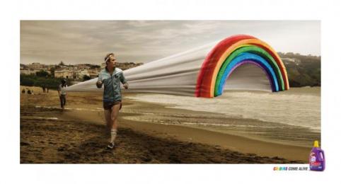 Dynamo Colour: RAINBOW Print Ad by Saatchi & Saatchi Malaysia