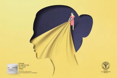 Farmacisti Preparatori: Face Print Ad by J. Walter Thompson Milan