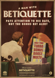 betiquette.nsw.gov.au: Bonus bet Alert Outdoor Advert by GPY&R Sydney, Sixty40