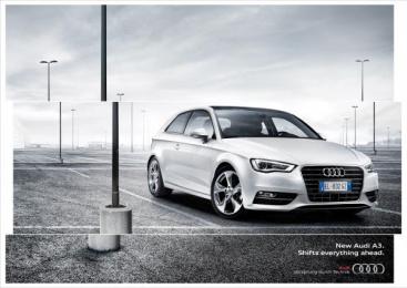 Audi A3: Shifts Everything Ahead Print Ad by Verba DDB Milan
