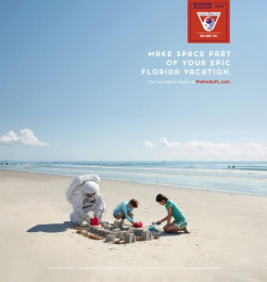 Space Florida: Make Space Part of Your Vacation Print Ad by Paradise Advertising