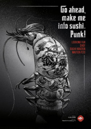 Mai Sushi: Sea Gangsters, 3 Print Ad by Not Perfect | Y&R Vilnius