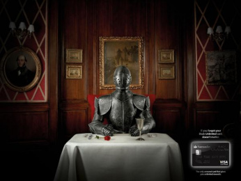 Santander Black Unlimited VISA card: Loss Print Ad by Euro Rscg Helsinki