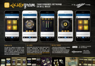 Miller: Remixgram [spanish image] Digital Advert by Phantasia Studio, Wunderman Phantasia Lima