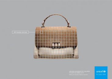 UNICEF (United Nations International Children's Emergency Fund): Bag Print Ad by Tux & Gill