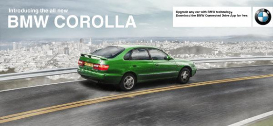 BMW Connected Drive app: Corolla Outdoor Advert by TkandCj