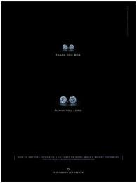 Diamond Trading Company: THANK YOU BOB Print Ad by J. Walter Thompson New York