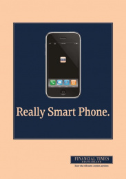 Financial Times Newspaper: SMART PHONE Print Ad by KNSK