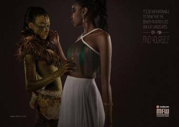 Vodacom Mozambique Fashion Week: Landscapes Print Ad by DDB Maputo