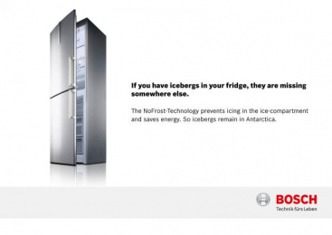 Bosch Freezer: Icebergs, 5 Print Ad by DDB Berlin