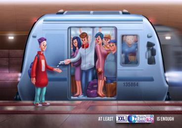Orbit: Metro Print Ad by BBDO CA Almaty