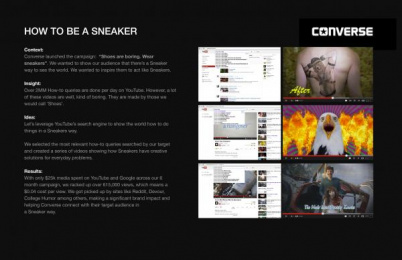 Converse Shoes: HOW TO BE A SNEAKER Promo / PR Ad by Anomaly New York, Wieden + Kennedy