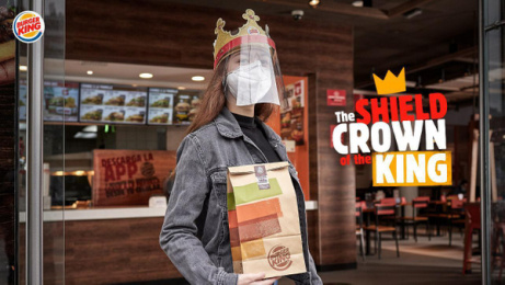 Burger King: The Shield Crown of the King Print Ad by Mood Lima