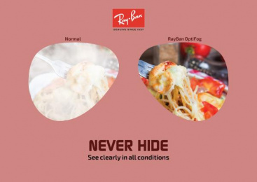 Ray-ban: Never Hide, 3 Print Ad by Art & Design Academy