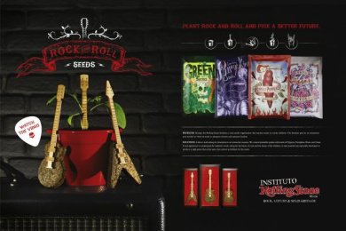 Rolling Stone: ROCK AND ROLL SEEDS Direct marketing by Fischer America Sao Paulo