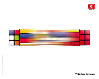 Deutsche Bahn: This time is yours, 2 Print Ad by Serviceplan, Germany