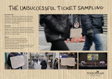 The Folkoperan Opera House: Unsuccessful Ticket Sampling [image] Digital Advert by Ingo Stockholm