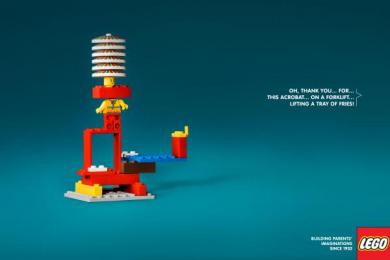 LEGO: Acrobat Print Ad by Brad