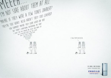 Profilo: Shoes Print Ad by Rafineri