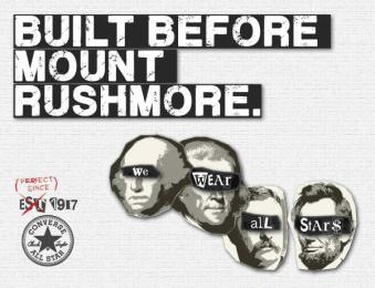 Converse: Mount Rushmore Print Ad by Miami Ad School New York