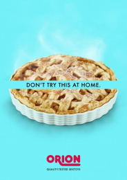 Orion: Don't try this at home, 2 Print Ad by Lukas Lindemann Rosinski