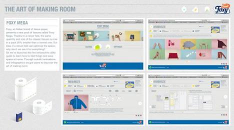 Foxy Toilet Tissue: THE ART OF MAKING ROOM Digital Advert by Lowe Pirella Milan