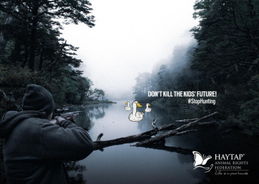 Haytap: Stop Hunting: Duck Print Ad by THEBADGUYS, İstanbul, Turkey