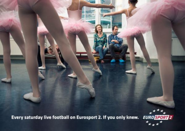 Eurosport Tv Channel: BALLET CLASS Outdoor Advert by Publicis Conseil Paris