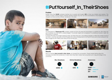 Samsung: Put yourself in their shoes [case] Film by Cheil Levant, Kiwi productions