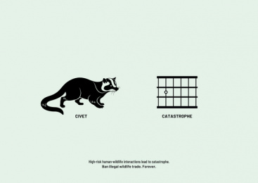 Vatitude: Ban illegal wildlife trade. Forever. - Civet Cat Print Ad by Vatitude, Bangalore, India