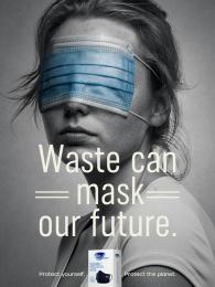 Fine Hygienic: Waste Can Mask Our Future, 4 Print Ad by Horizon FCB Dubai