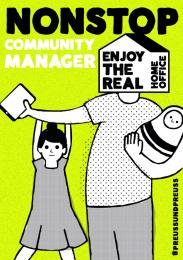 Preuss und Preuss: Homeoffice recruiting - Nonstop Community Manager Print Ad by Preuss Und Preuss Germany
