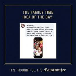 Rustomjee: The Family Time Idea Of The Day, 9 Digital Advert by Ideas@work