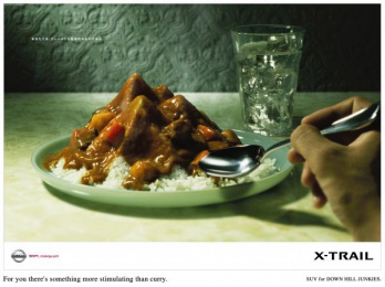 Nissan X-trail: DOWN HILL JUNKIES Outdoor Advert by Hakuhodo Tokyo