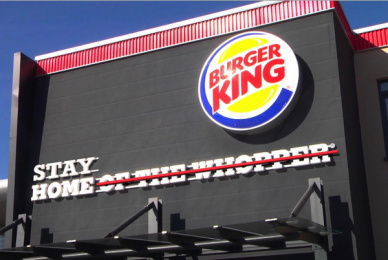 Burger King: Stay Home Outdoor Advert