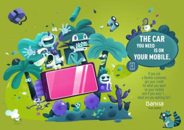 Bankia: The Car Print Ad by CLV Madrid, The Mushroom Company