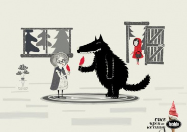 Freddo: Little Red Riding Hood Print Ad by Y&R Buenos Aires