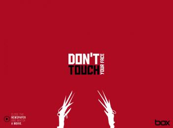 Box Comunicação: Don't touch your face Print Ad by Box Goiania Brazil