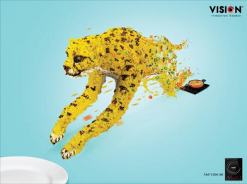 Vision Electronics: Fast Cooking Print Ad by Asiatic J. Walter Thompson Dhaka