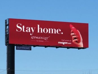 WOW Tech Group: Stay home, 2 Outdoor Advert by The Garden