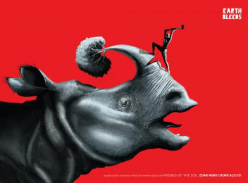 Zuari Industries: Rhino Outdoor Advert by R K Swamy BBDO Mumbai