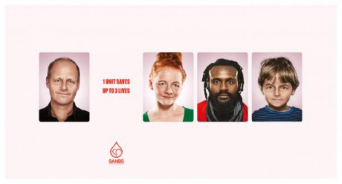 South African National Blood Service (SANBS): Faces 1 Print Ad by DDB Johannesburg