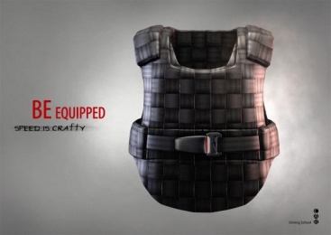 CAR Driving School: Flak jacket Print Ad by Arttechnology