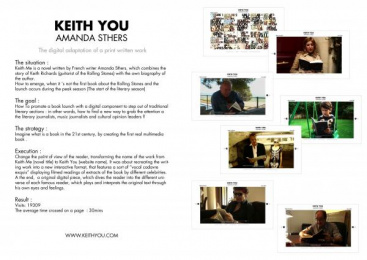 Amanda Sthers: KEITH YOU Print Ad by Publicis Conseil Paris