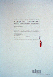 Out There Subscription: CUT OUT Print Ad by Harrison Human