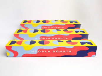 Hoopla Donuts: Hoopla Brand ID, 9 Print Ad by Daughter Creative