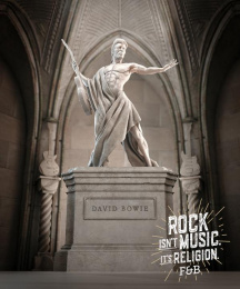 Fosbury&Brothers: Rock is Religion - David Bowie Print Ad by Fosbury&Brothers Parana, unMARIACHI