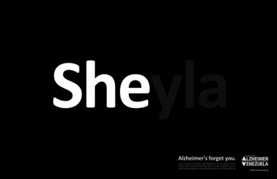 Venezuela's Alzheimer Foundation: SHEyla Print Ad by RG2 Caracas