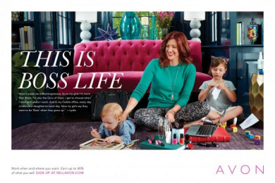 Avon: This is boss life - Lydia Print Ad by Moxie Pictures, The Terri & Sandy Solution